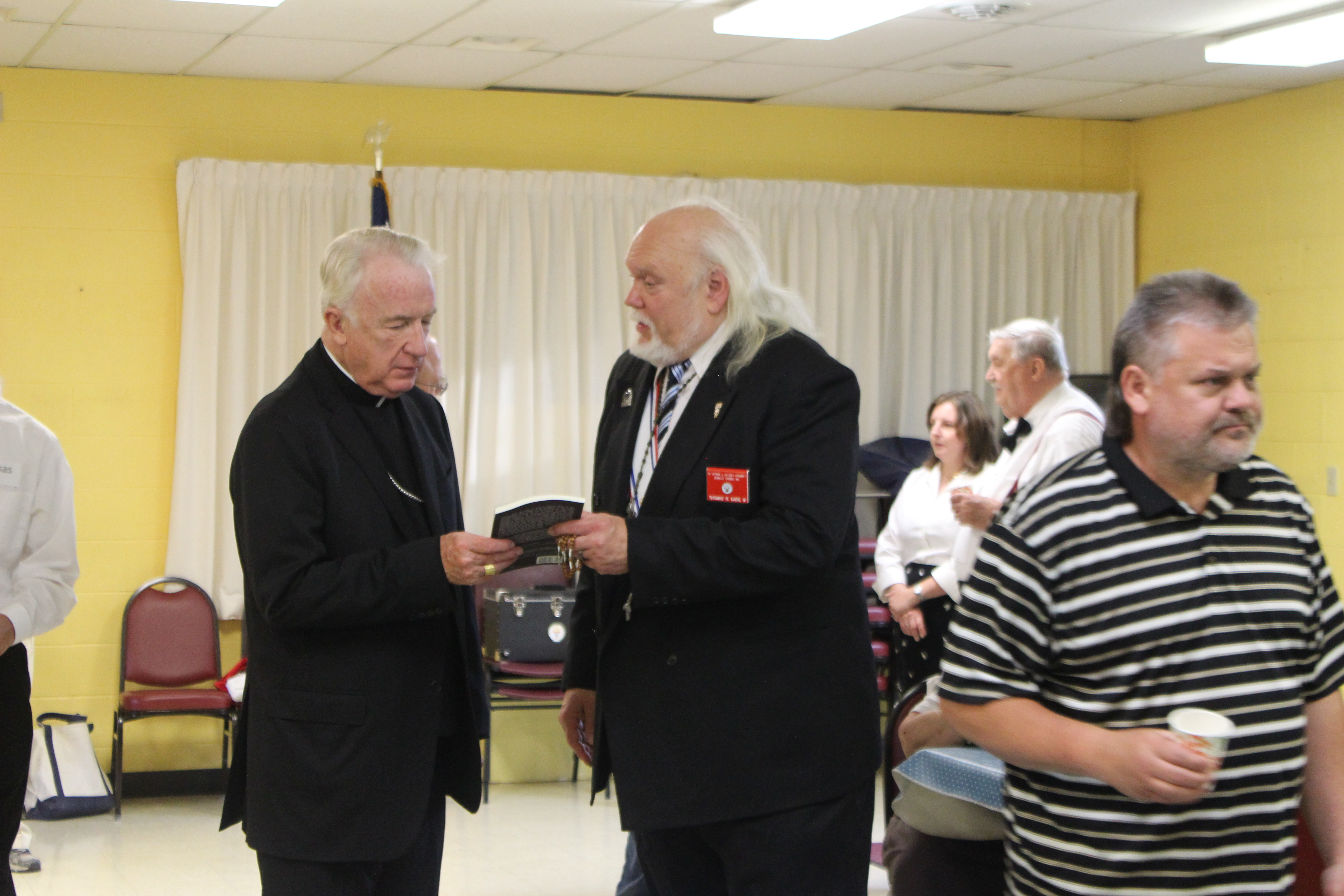 Presenting My book To Bishop Bransfield.JPG