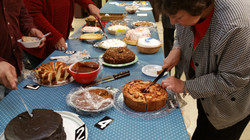 Time to cut the entries Knights of Columbus Council 10011 Pro Life Bake contest