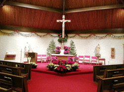 Christmas Eve Front of Church