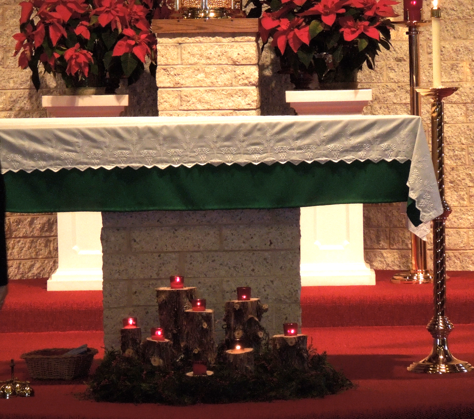 Altar at Father Joseph last Mass OLG