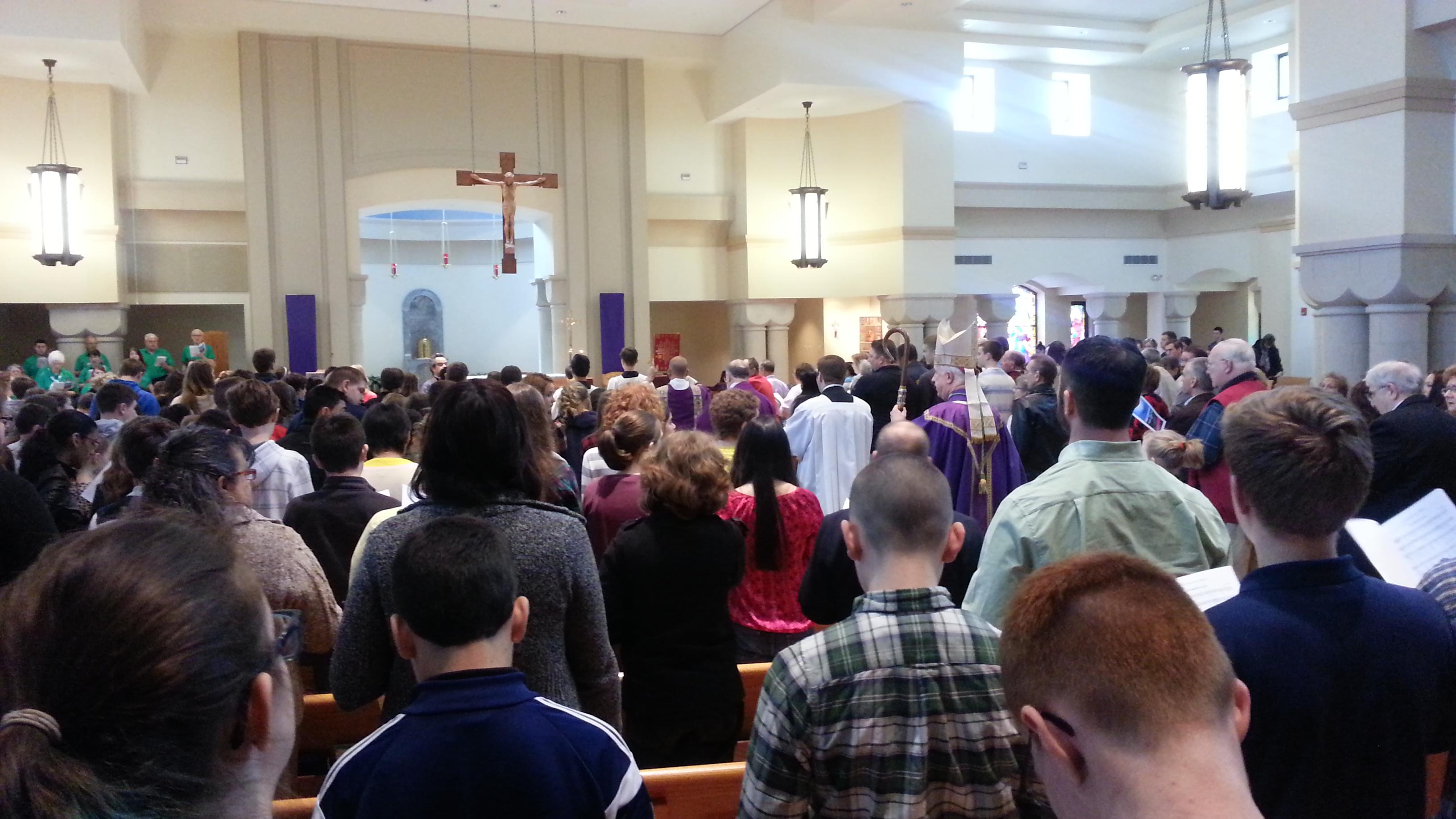 Holy Mass begining