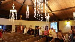 Father Greeting Parishioner's