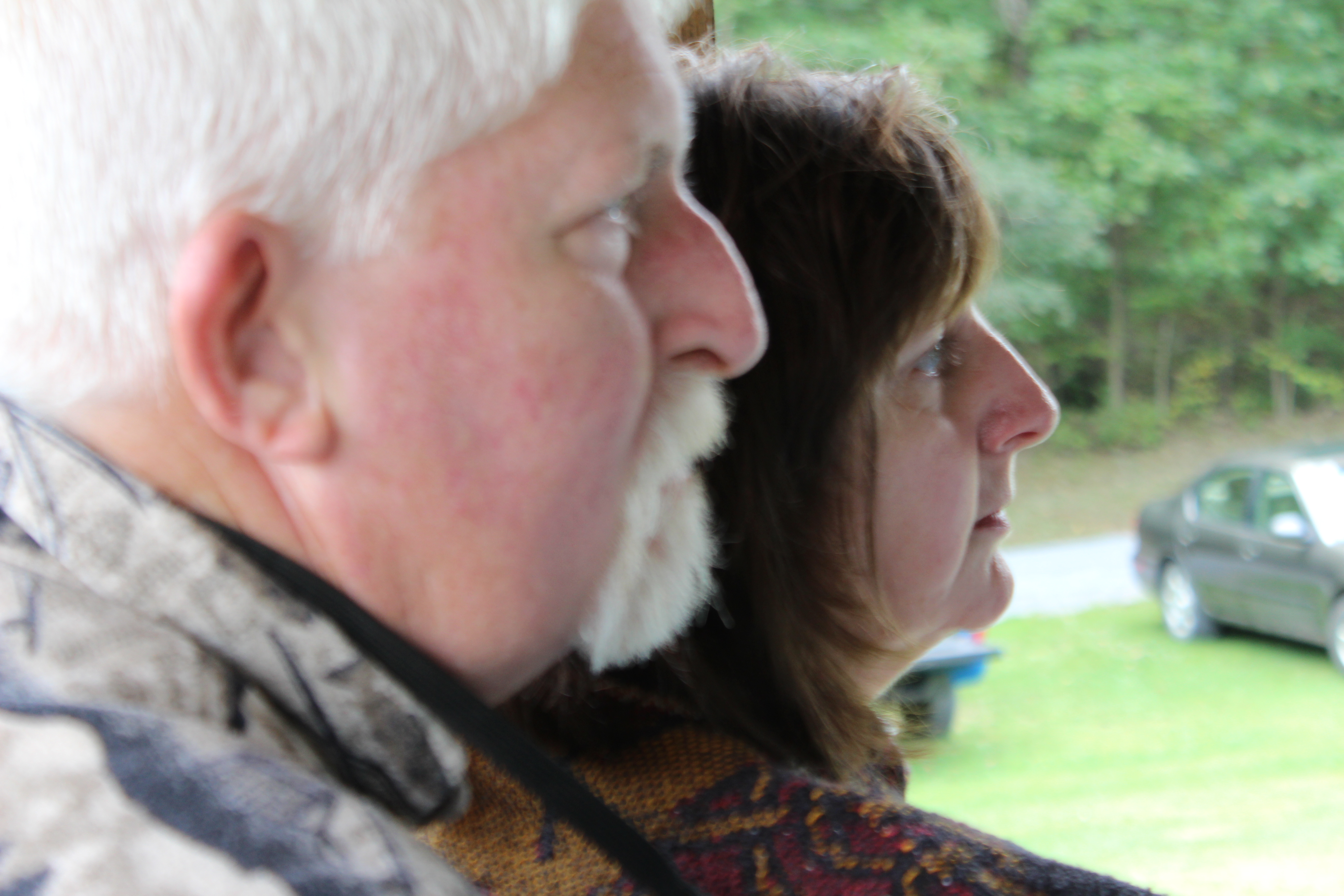 Rick and Becky during homily