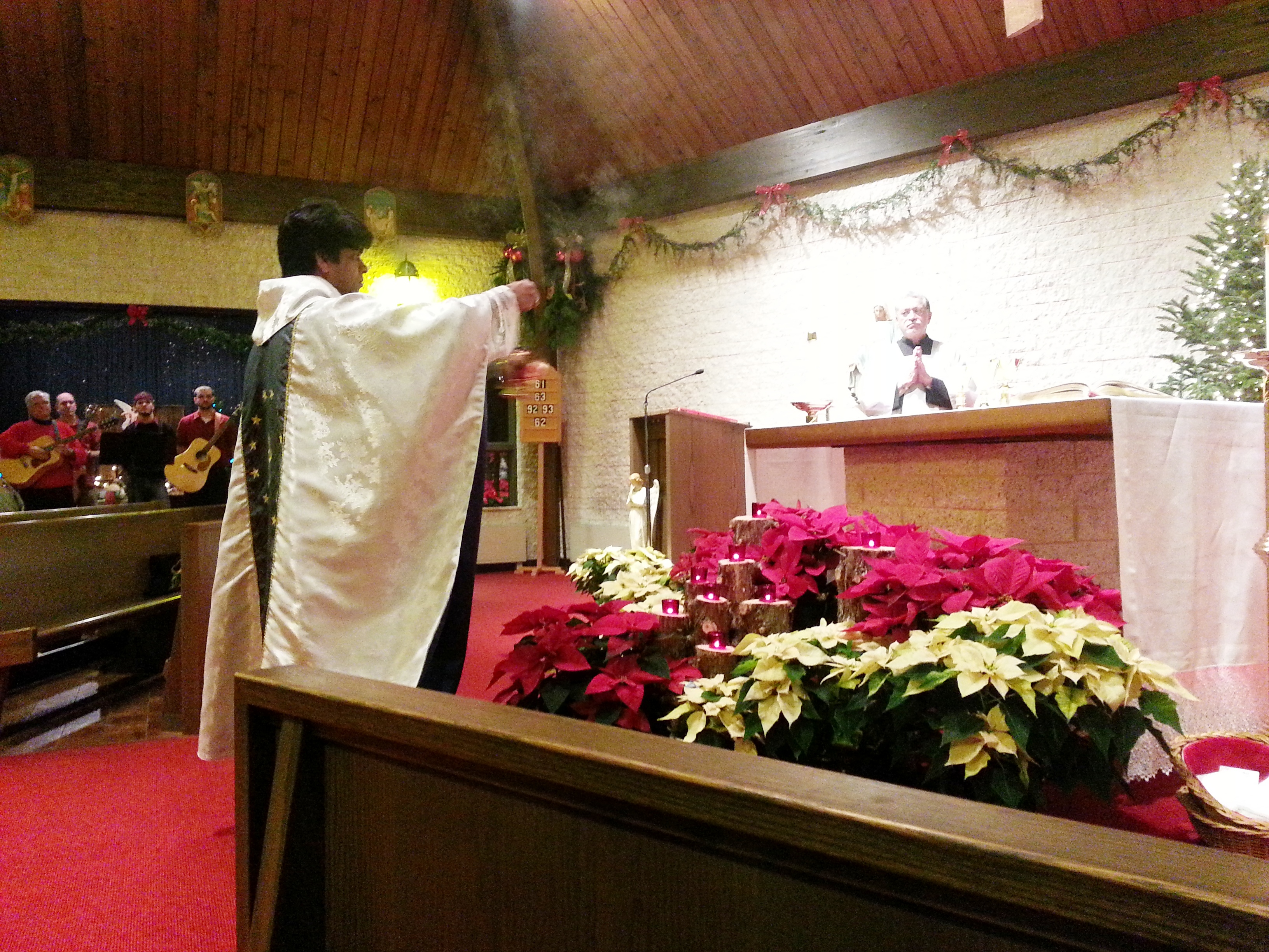 Christmas Eve Incensing the Altar