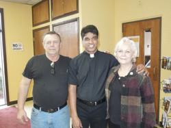 Parishioners and Fr Joseph