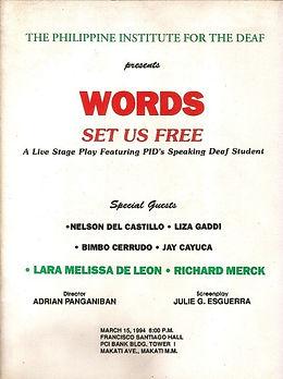 1994 - Words Set Us Free.jpg