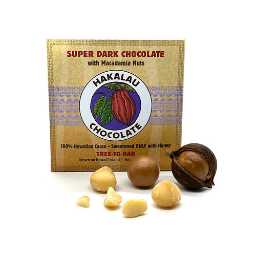 Hakalau Chocolate with Macadamia Nuts - 6 Bar Bundle