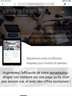 création landing page