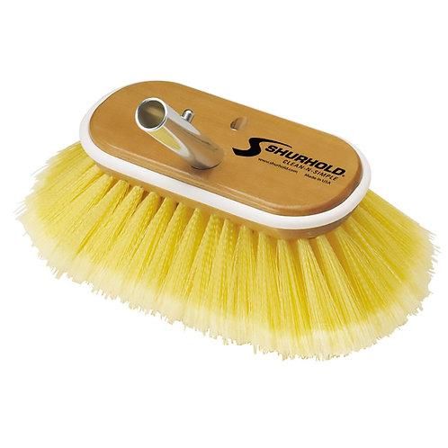"Shurhold Yellow Deck Brush Medium 6"""