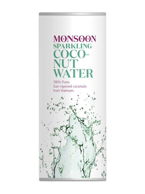 Monsoon Sparkling Coconut Water 4 pack