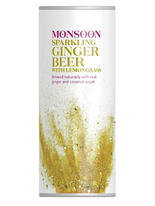 Monsoon Sparkling Ginger Beer with Lemongrass 4 pack