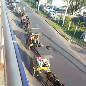 As carroças de Tramandaí/RS