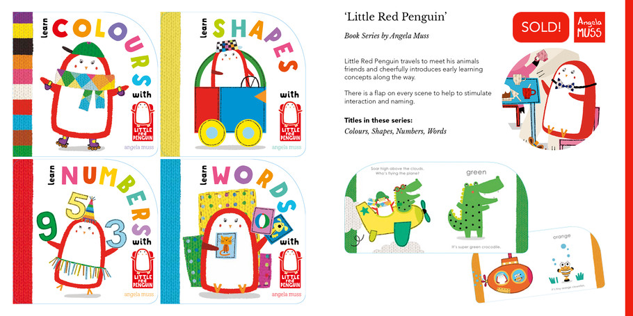 'Little Red Penguin' Book Series by Angela Muss