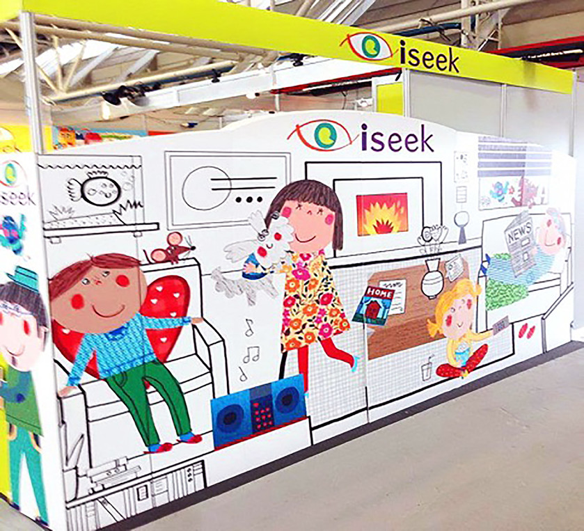 Illustration Design for Iseek Stand, Bologna Book Fair