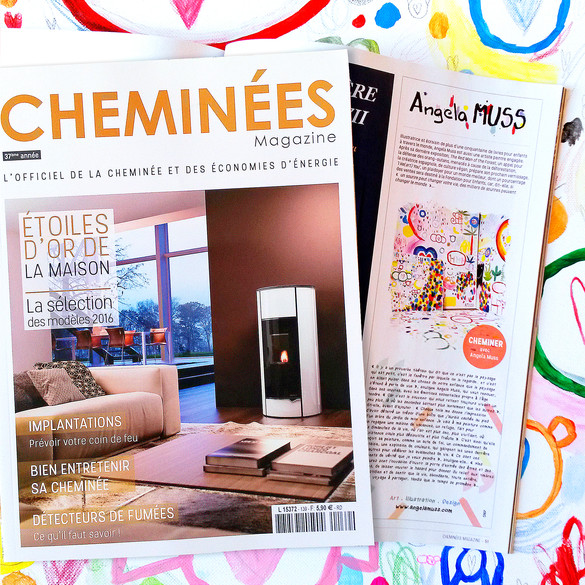 Visual Artist Interview by Pauline Wirth du Verger, published in the french Magazine Cheminées and iTunes 2016