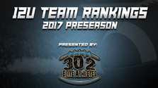 12U Preseason Team Rankings Announced!