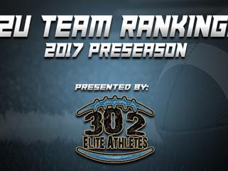 12U Preseason Team Rankings Announced!