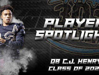 Player Spotlight: QB C.J. Henry (Class of  2021)