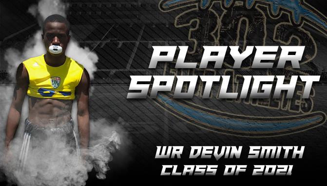 Class of 2021 (WR) Devin Smith Jr named MVP at FBU camp.