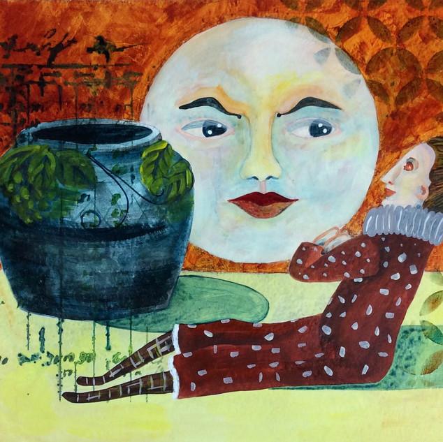 Things in My Studio, acrylic, gerri youn