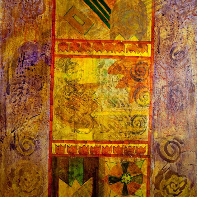 Tulip Abstract, acrylic, Gerri Young, 20