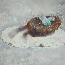 Bird's-Nest,-watercolor,-300-lb,-Gerri-Y