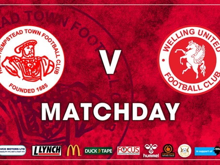 Matchday: Hemel Hempstead Town V Welling United