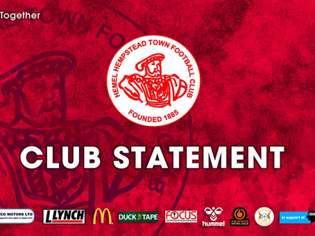 Joint  Club Statement Regarding the 2020/21 season