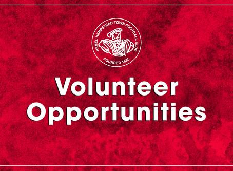 Volunteer Opportunities - Covid-19