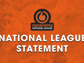 National League Statement | Return to Football