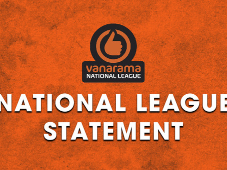 National League Statement | 20/21 Season