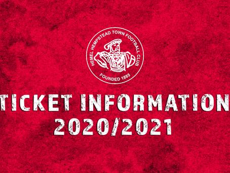 Ticket Information - 2020/21