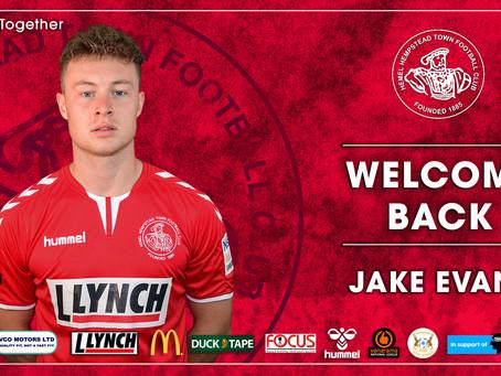 WELCOME BACK | Jake Evans