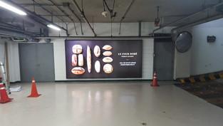 지하 주차장 와이드 광고