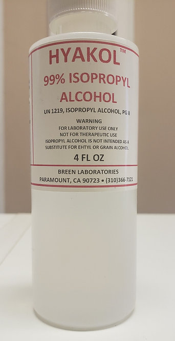 Hyakol 99% Isopropyl Alcohol
