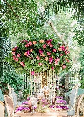 Tree Inspired centerpiece Roses Flowers Miami Florida Georgia Greenery Wedding Dinner Setup