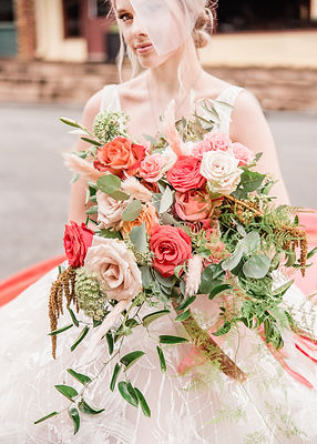 Bride with garden inspired Boquet boho miami Florida Georgia