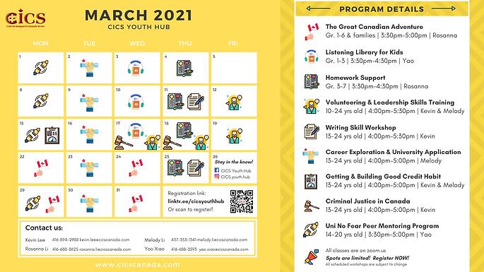 CICS Youth Team - March Calendar - ENG.P