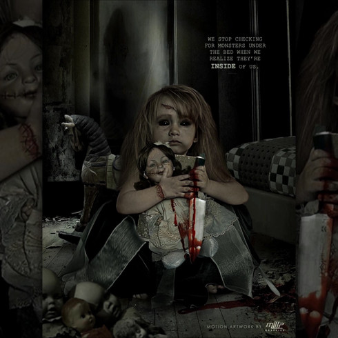 Watching movies like Annabelle, and Child's Play made me want to do a very creepy, horror doll design. Here's a menacing porcelain doll that comes to life at night to terrorize a young girl and causes her to do a lot of horrible things, that's also in need of her human body as a gateway to live again