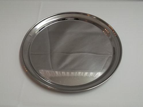 Silver Circular Tray - $3.00 each