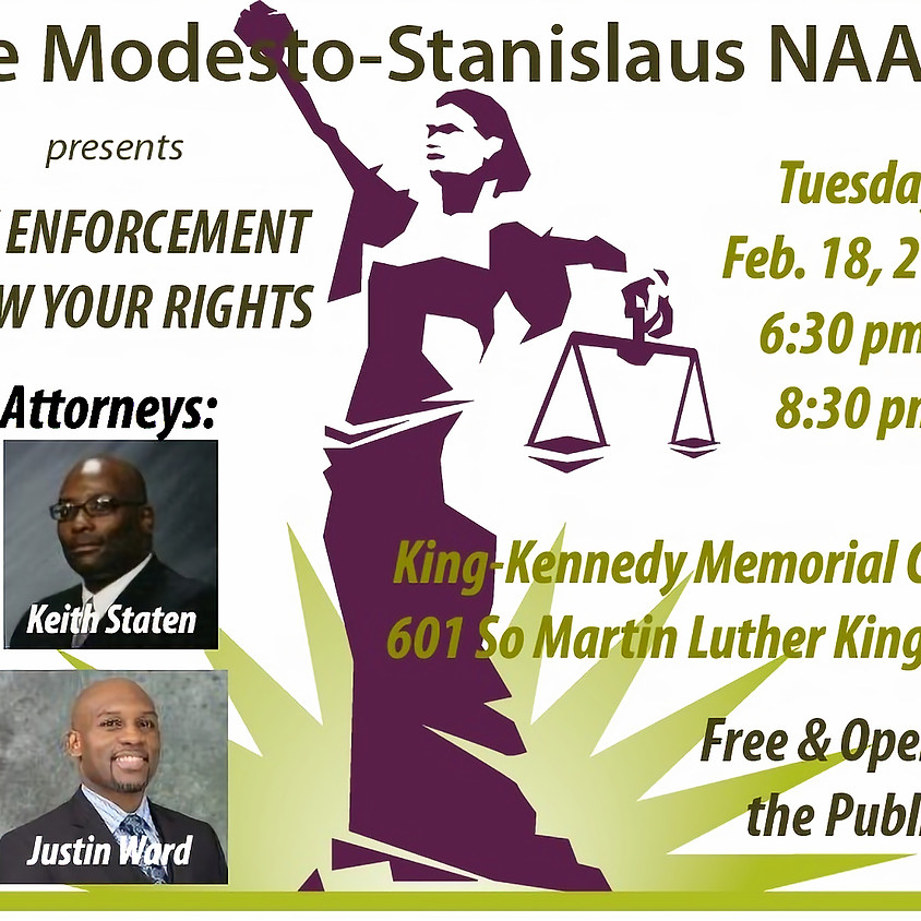 Law Enforcement - Know Your Rights Workshop