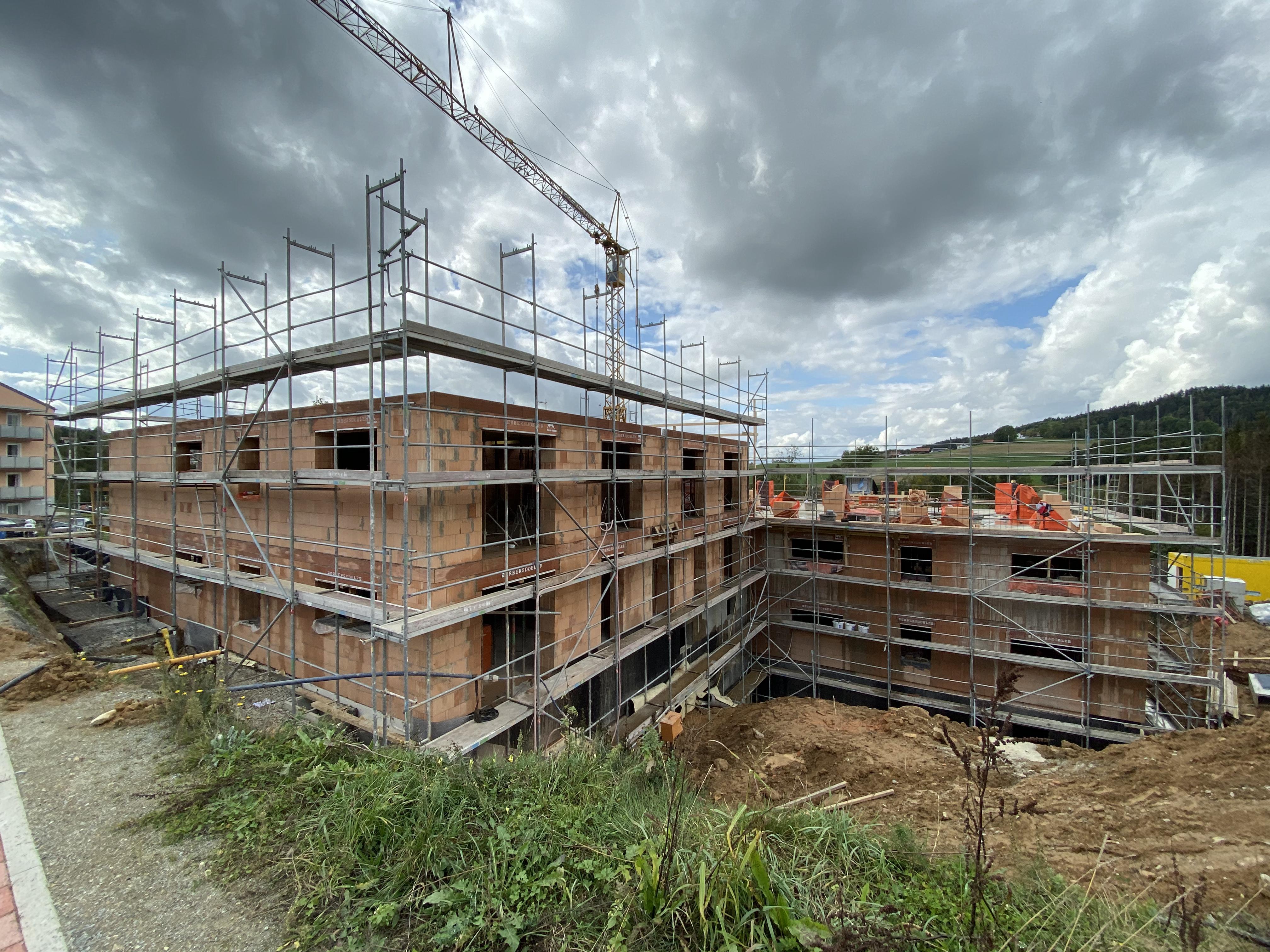 Fassaden und Dachfanggerüst