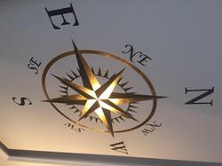 Vergoldung Deckenkompass