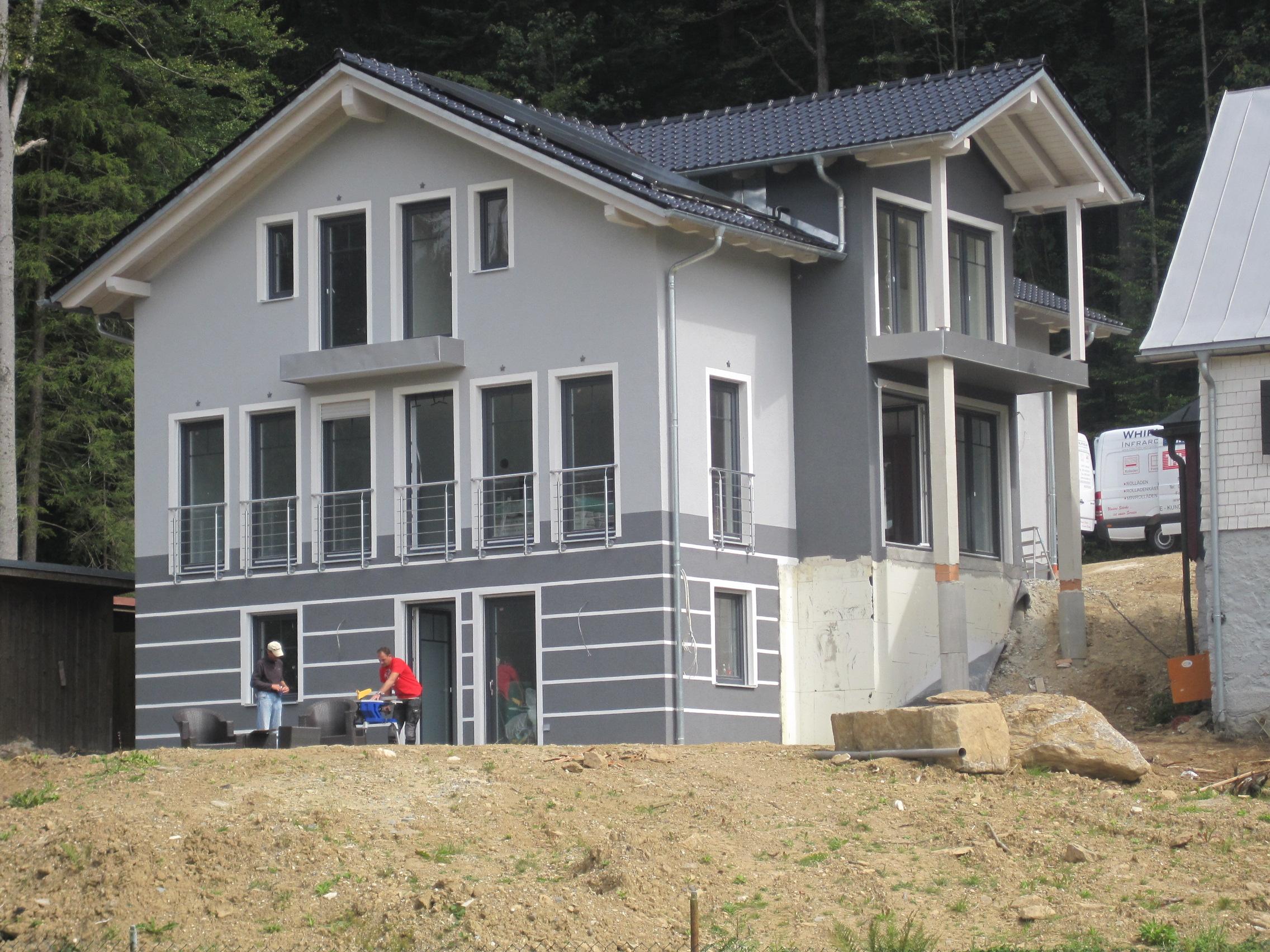 Fassade mit Possen