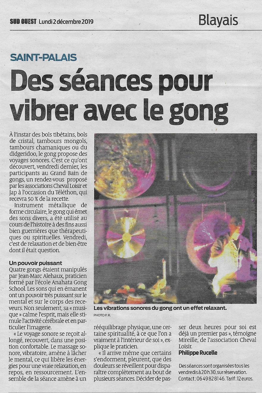 2019-12-02 Bain de Gong Saint Palais Sud