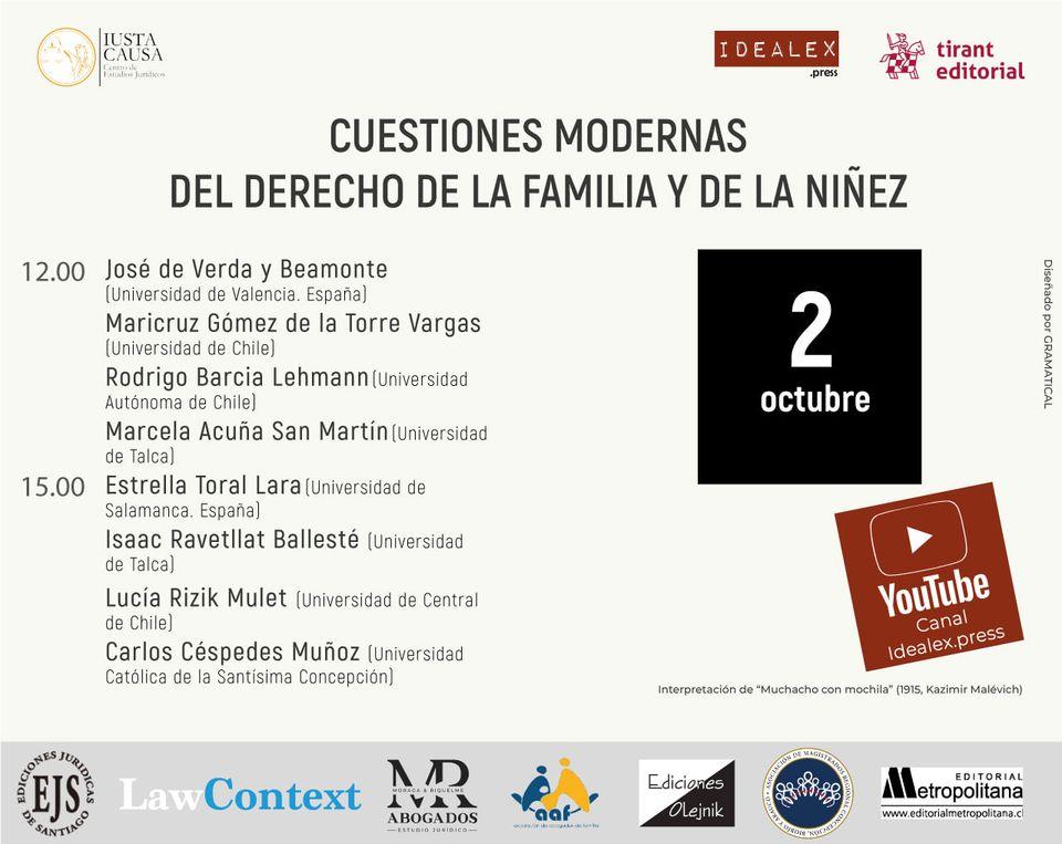 CUESTIONES MODERNAS DEL DERECHO DE LA FAMILIA Y LA NIÑEZ