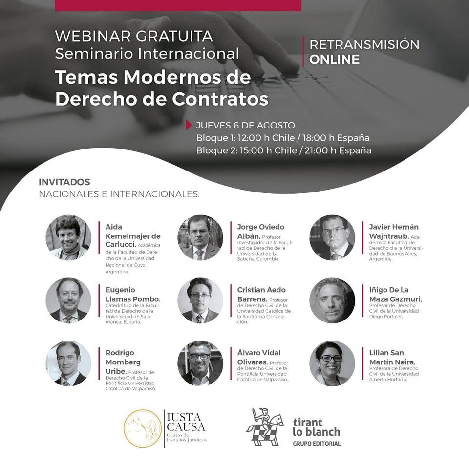 WEBINAR TEMAS MODERNOS DERECHOS DE CONTRATOS