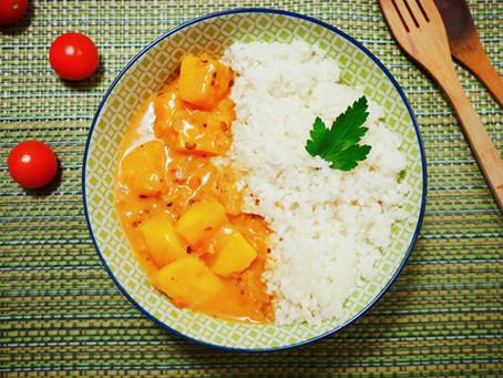 Orientalischer Blumenkohlreis mit Mango