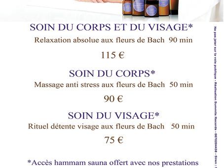 Offres Soins Fleurs De Bach 2020 du SPA LA COUPOLE