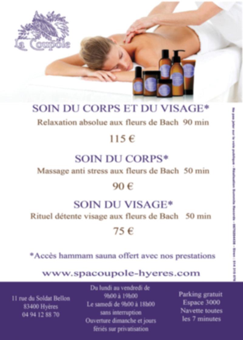 Spa La Coupole Flyer fleur de bach 2020